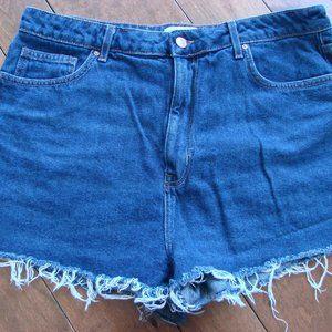 Forever 21 Denim Jean Shorts Frayed ~ High Waist